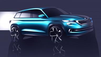 Designová studie SUV ŠKODA VisionS bude mít premiéru v Ženevě