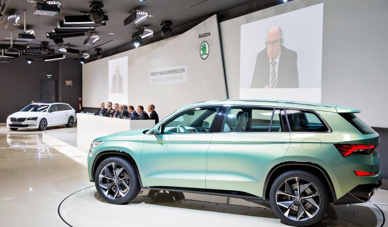 ŠKODA VisionS at Annual Press Conference in Kosmonosy.