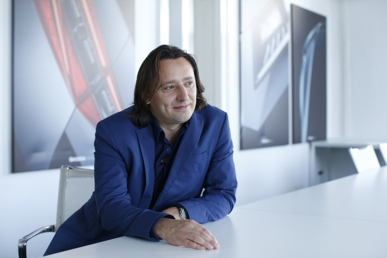 Jozef Kabaň won't tolerate stagnation: His team of designers from 20 countries is consistently developing new products.