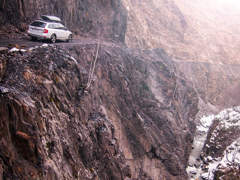 Between Mestia and Ushguli: we need five hours for a trip of around 50 kilometres. The roads are only passable from spring to autumn.