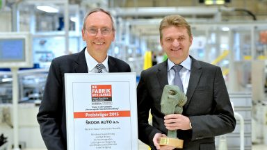 ŠKODA Plant Receives 'Factory of the Year' Award' Produced in Vrchlabí