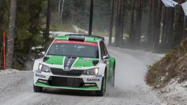 ŠKODA celebrates podium positions at the Rally Sweden