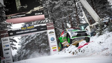 Rally Sweden: Tidemand on course to finish on the podium for ŠKODA at his home rally