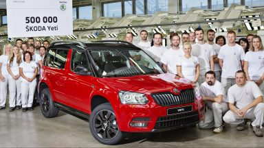 Successful Compact SUV: 500,000 ŠKODA Yetis Produced at Kvasiny