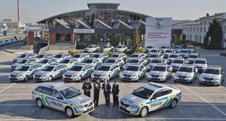 477 nových služebních vozů ŠKODA pro Policii ČR