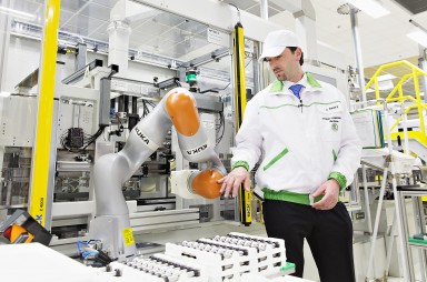 New Robotic Workmate on the Factory Floor