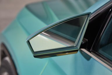 Stylish wing mirrors show off the signature handwriting style of the design. (Photo: ŠKODA AUTO a.s.)