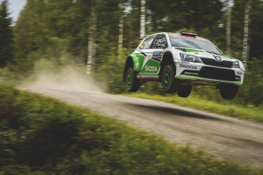 Rally Finland, Fabia R5. (Photo: ŠKODA AUTO a.s.)