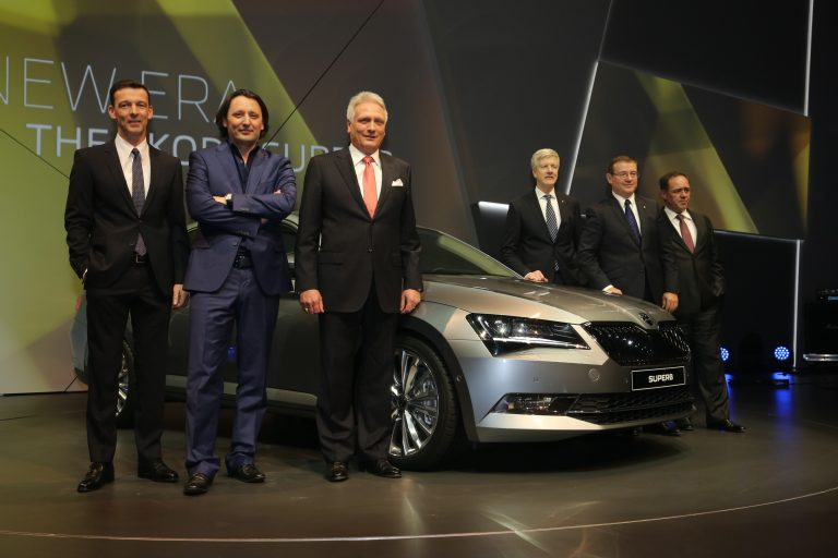 The new ŠKODA Superb – World Premiere in Prague, 17 February 2015