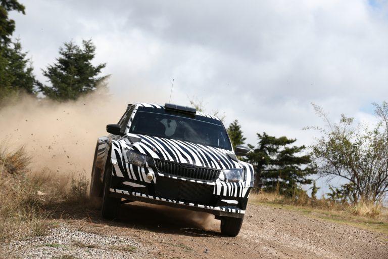 ŠKODA Fabia R 5: Development of the new rally car on schedule