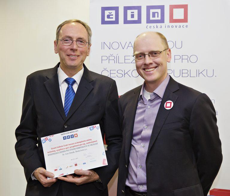 ŠKODA AUTO oceněna v rámci soutěže České inovace 2014