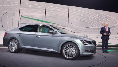 The new ŠKODA Superb: Emotionally rich appearance at the Volkswagen Group Night in Geneva