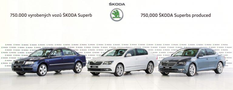 ŠKODA vyrobila 750 000. vůz řady ŠKODA Superb
