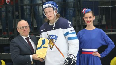 IIHF Ice Hockey World Championship: ŠKODA CEO Bernhard Maier Awards The Most Valuable Player
