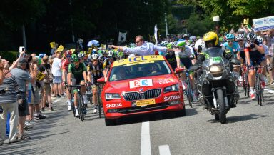 New era: New ŠKODA Superb delights as the 'Red Car' of the Tour de France