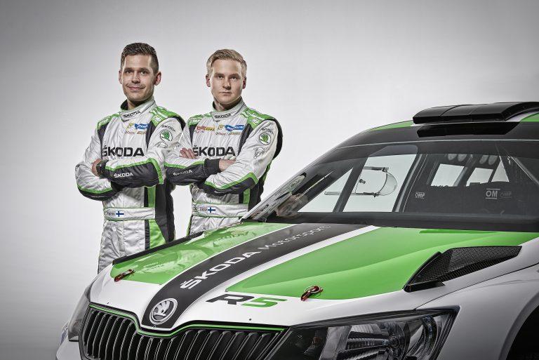 ŠKODA Motorsport crew Esapekka Lappi/Janne Ferm
