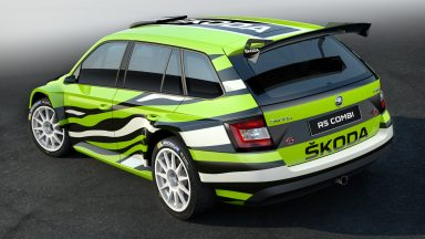Sharp edge: ŠKODA Fabia Combi R5 show car at Wörthersee's legendary GTI Meeting