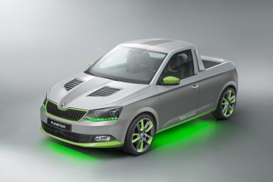 The fun vehicle concept, based on the new ŠKODA Fabia, is the result of ŠKODA's 'trainee car' project, which was run for the first time last year.