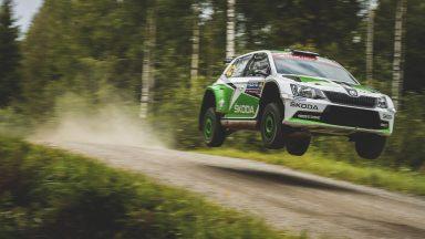 Success for ŠKODA: Lappi wins in Finland to take WRC 2 lead