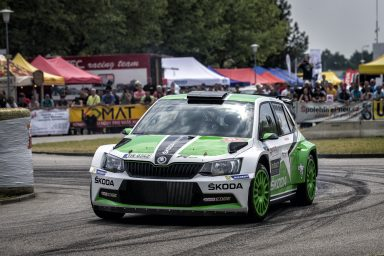 One-two for ŠKODA: Jan Kopecký extends lead in the Czech Rally Championship