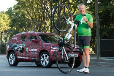 Finale of the Tour de France: ŠKODA KODIAQ is first across the finish line