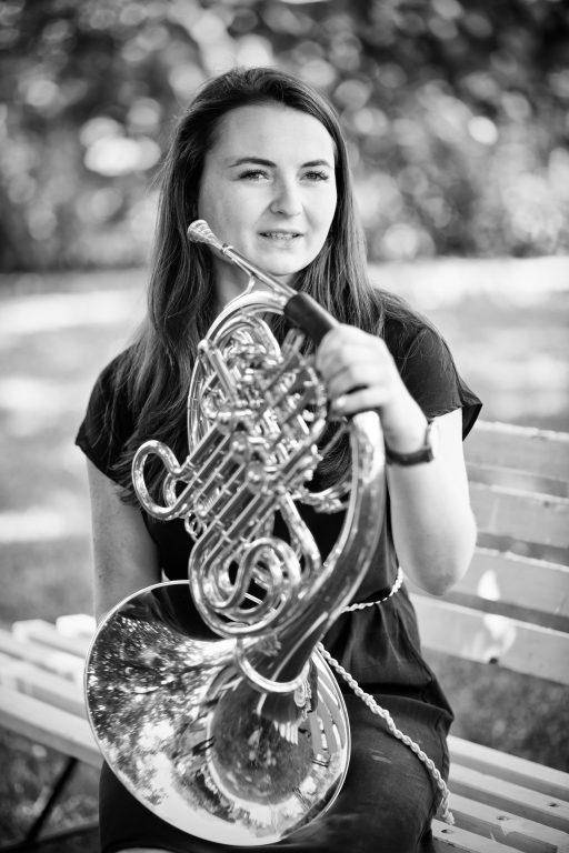 Na lesní roh Kateřina hraje od svých devíti let.