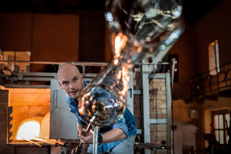 An eye for detail: Peter Olah has learned the fine art of glassmaking – the knowledge gained from this is incredibly important for the design process.