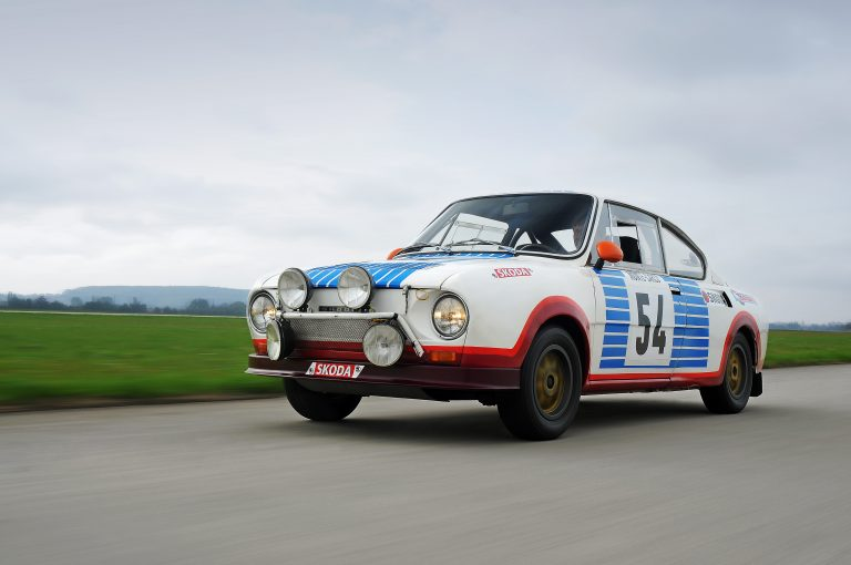 ŠKODA sextet taking part in the 2016 Sachsen Classic; It is quite simply a crowd-puller and one of the most successful rally cars of the 1970s and 80s – the legendary ŠKODA 130 RS.