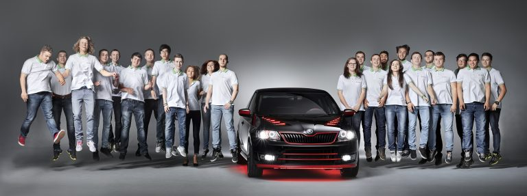 ŠKODA Vocational Students Build Dream Coupé The team from the ŠKODA vocational school in Mladá Boleslav developed and implemented the concept together with the support of the instructors, Technical Development, Design and Production departments.