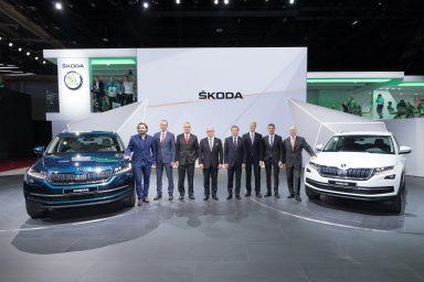 ŠKODA KODIAQ motor show premiere in pictures