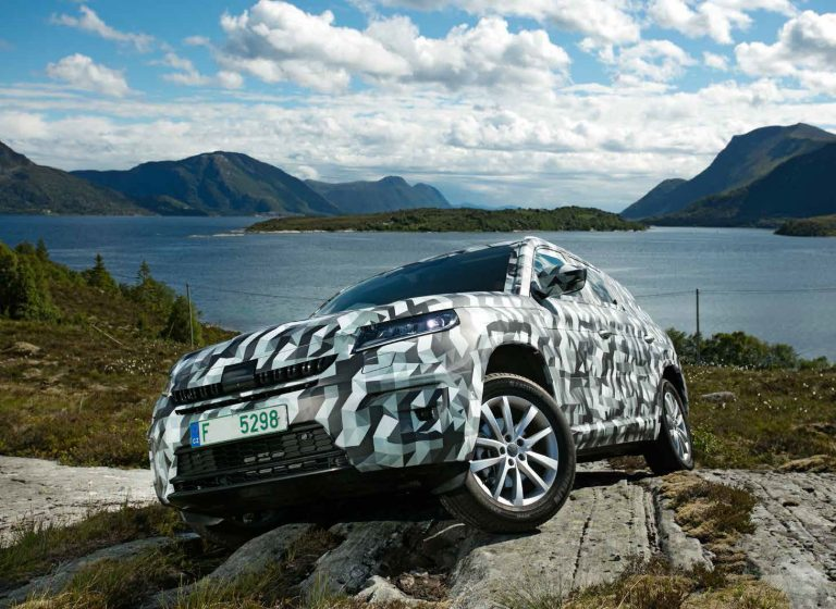 His territory is the street - and that's where the pre-production models of the ŠKODA KODIAQ were intensively tested and finely tuned. The prototypes were disguised on the road, for example here in Norway in the summer of 2016.