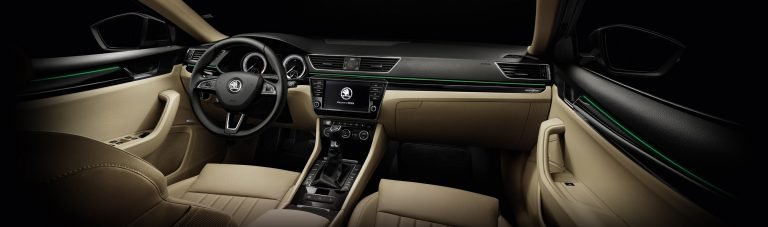 Gulal is available in various colours and so is the Ambient Lighting in ŠKODA SUPERB and ŠKODA KODIAQ.