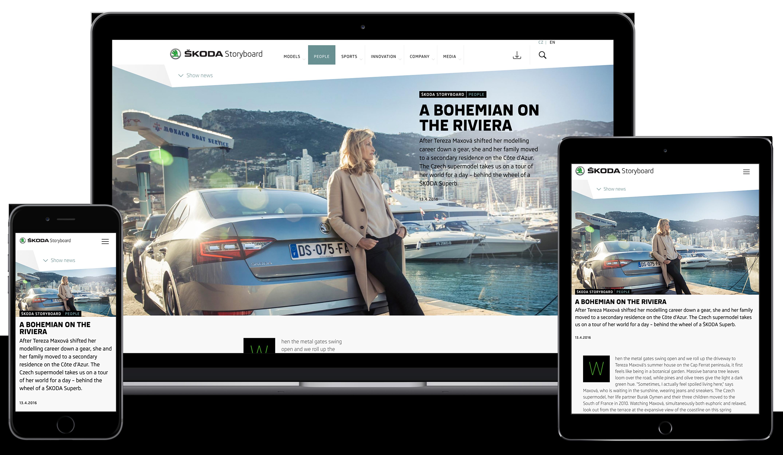 ŠKODA Storyboard: Communications and Marketing Launch new
