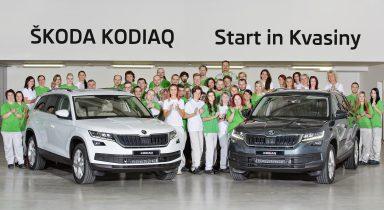 Zahájení sériové výroby nového modelu ŠKODA KODIAQ v závodě v Kvasinách