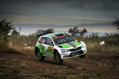 Tidemand ahead of Kopecký: One-two lead for ŠKODA Motorsport at the Rally Spain
