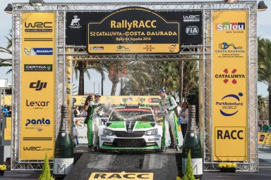 Celebrations at the Rally Spain: ŠKODA Motorsport repeats 2015 one-two victory