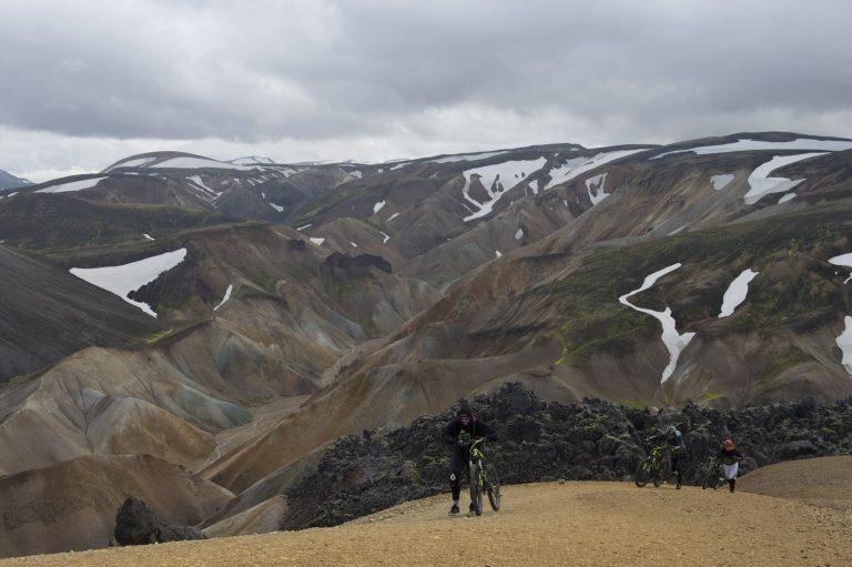Climbing Brennisteinsalda volcano.