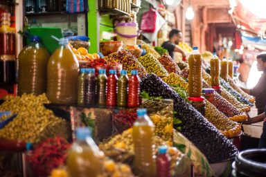 Central market in Agadir is where local people shop. It is extremely colourful and lively.