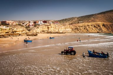 The fishing village of Imsouane is now more like a surfers' haven. The landscape is just amazing.
