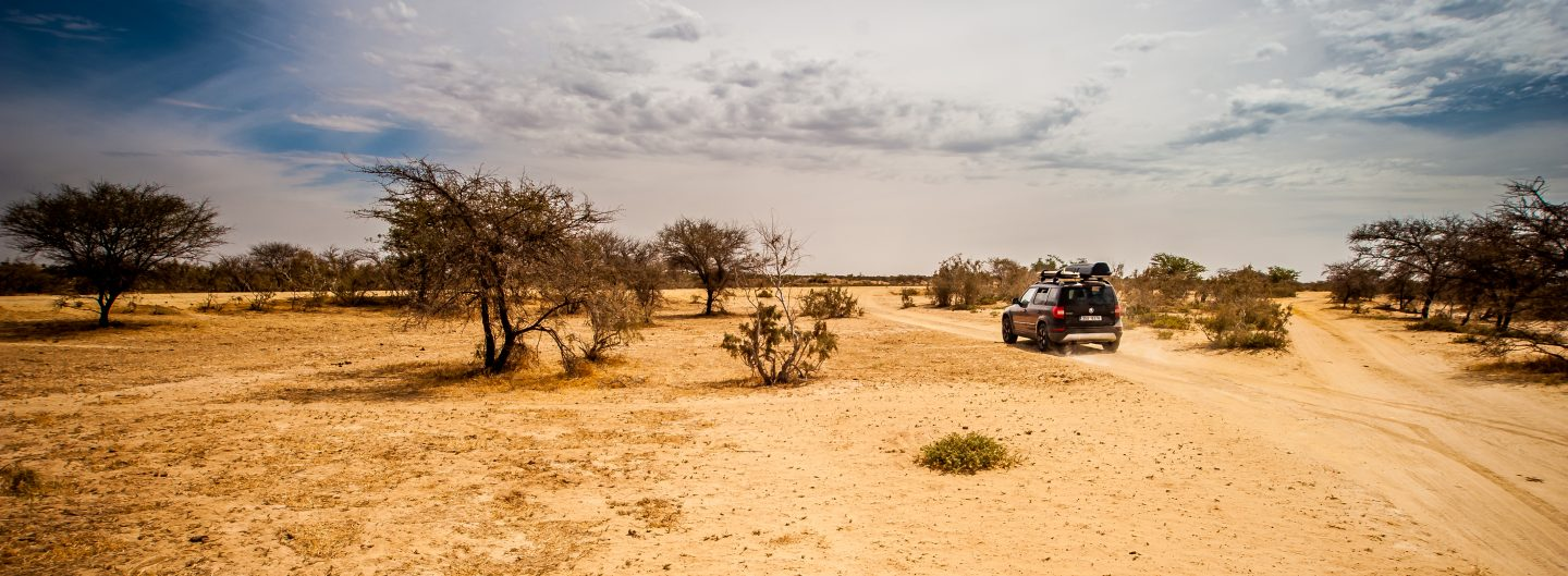 With ESP switched off, one can feel on Mauritanian roads as if driving in a rally.