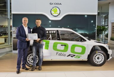 High-tech, four-wheel drive powerhouse in great demand: ŠKODA delivers 100th FABIA R5