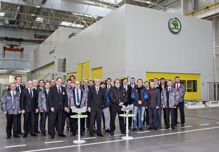 New ŠKODA press line inaugurated in Mladá Boleslav