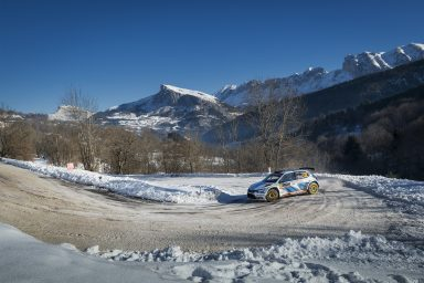 Mikkelsen ahead of Kopecký: One-two lead for ŠKODA ahead of the Rally Monte Carlo finale