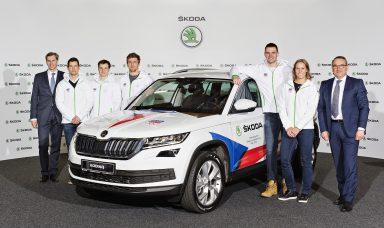 Čeští olympionici převzali vozy ŠKODA KODIAQ v den zahájení prodeje