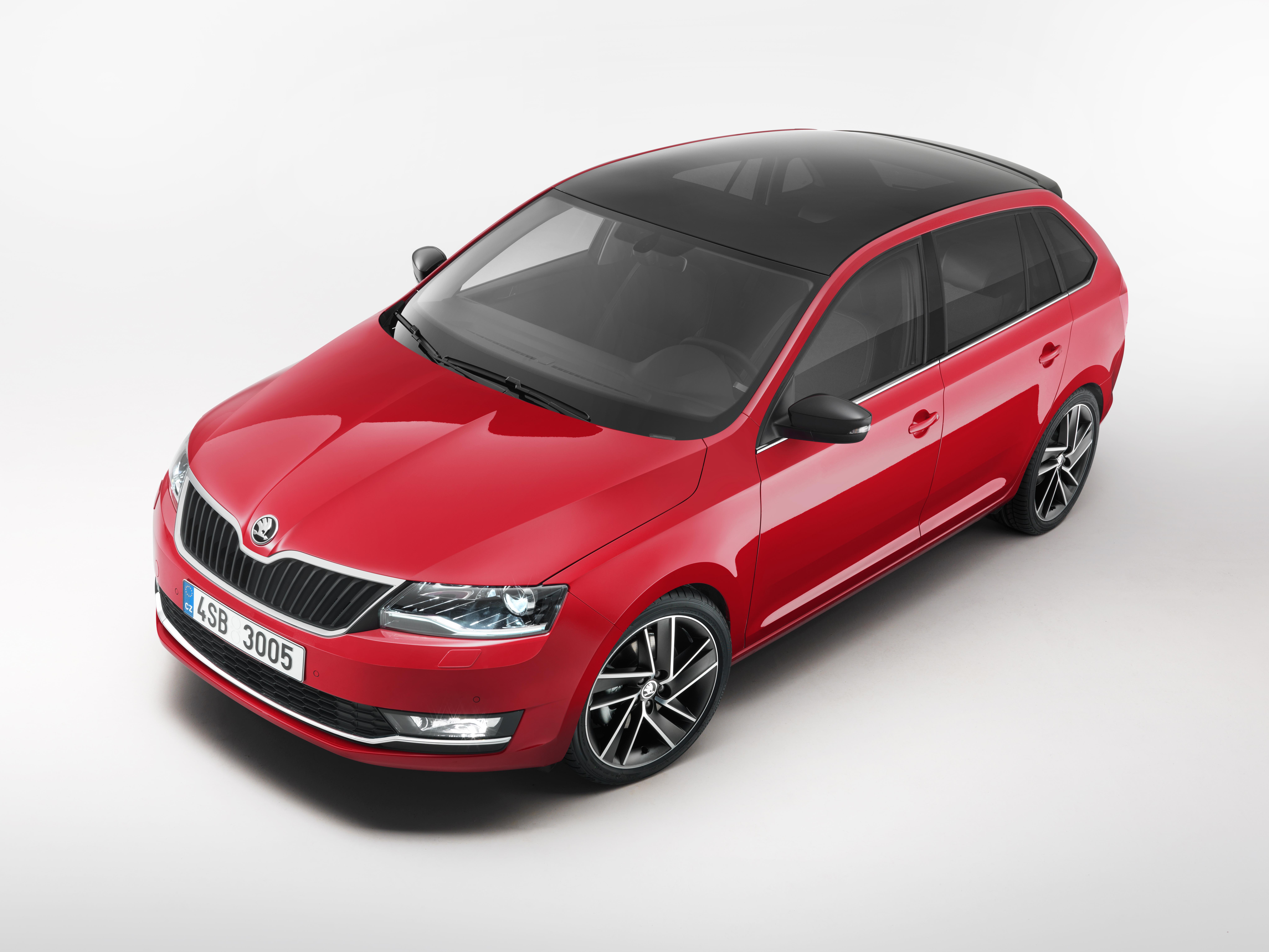 Škoda rapid and Škoda rapid spaceback optimized interior and