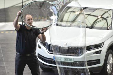 Bublinář se usmívá