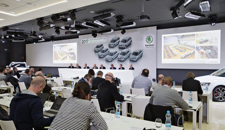 Výroční tisková konference ŠKODA AUTO 2017