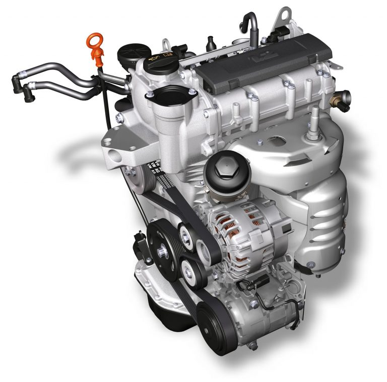 Three-cylinder petrol engine used in ŠKODA FABIA 1.2. HTP