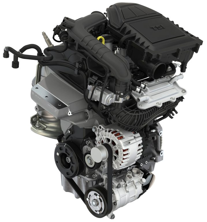 Three-cylinder petrol engine used in ŠKODA FABIA 1.0 TSI