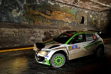 Rally Mexico: Tidemand extends his lead in the ŠKODA FABIA R5